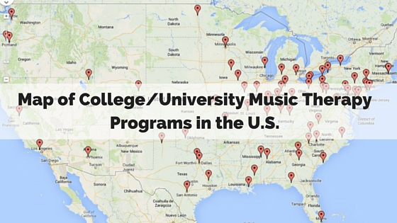 Map of College-University Music Therapy Programs in the U.S.